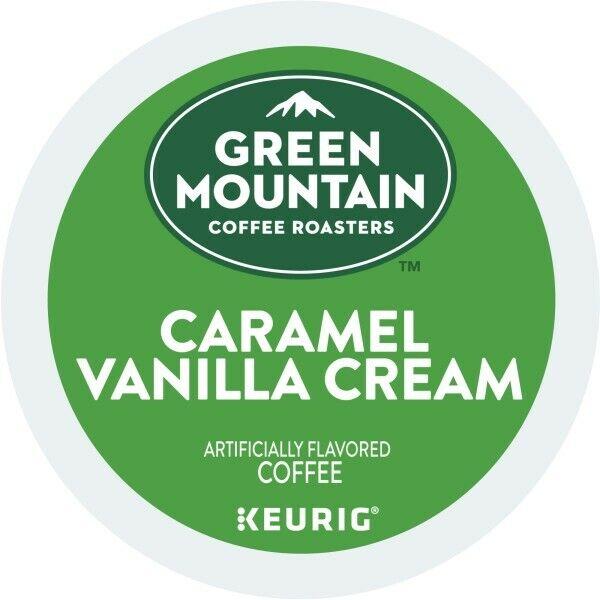 Green Mountain Coffee Caramel Vanilla Cream, Keurig K-Cup Pod, Light Roast, 96ct