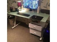 John Lewis stylish glass computer desk, mint condition!