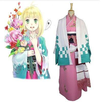 Shiemi Moriyama Cosplay Kostüm (Hot Ao no Exorcist Shiemi Moriyama Kimono Cosplay Costume Free Shipping)