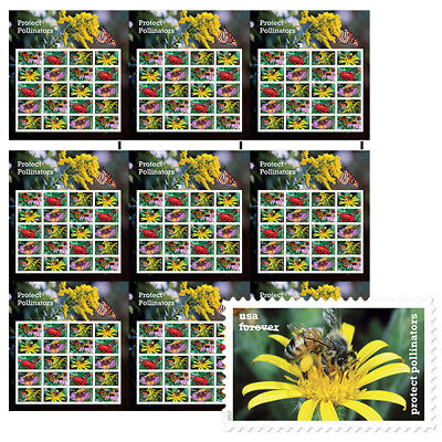 USPS New Protect Pollinators Press Sheet with Die Cuts