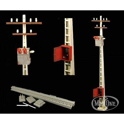 MAC35131 Macone Models Poste Eléctrico de cemento y Transformador 1/35