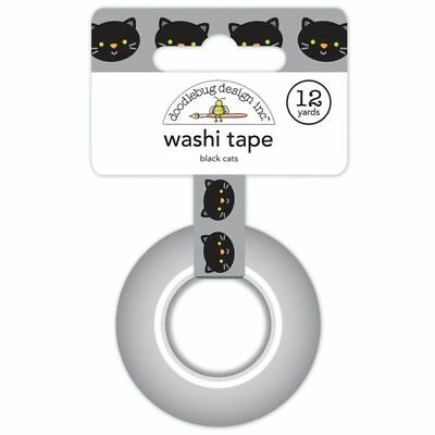 Scrapbooking Crafts Doodlebug Washi Tape Black Cats Halloween Bright Eyes Smiles - Cats Eyes Halloween