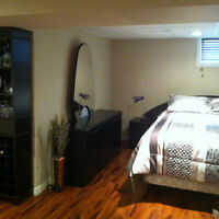 BEDROOM SET, TABLE AND HUTCH for Sale