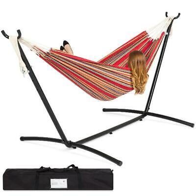 Best Choice Products Double Hammock Set w/ Accessories - Red