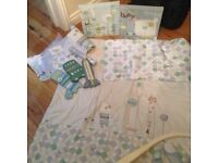 Mamas and papas Roundabout collection cot bedding and accessories