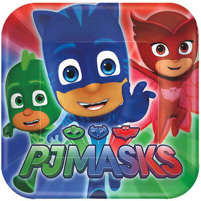Dinner Party Masks (PJ Masks Birthday Party Supplies Large Dinner)