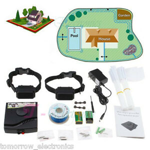 2013 NEW Waterproof Underground Electric Shock Dog Collar Fence System For 2 Dog