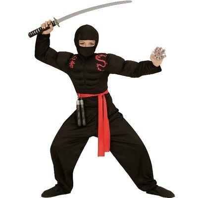 Ninja Dragon Fighter SUPER MUSKEL NINJA Gr. 158  Kinder Kostüm  4 tlg #528