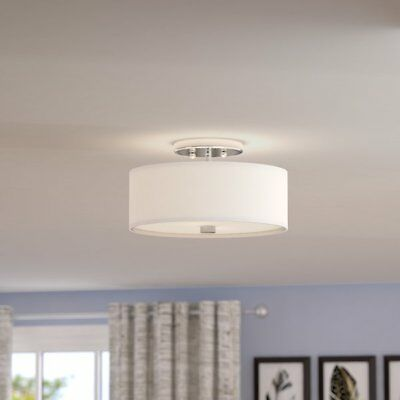 Livex Lighting 2-Light Semi Flush Ceiling Fixture, Model 51052-91,         (G10)