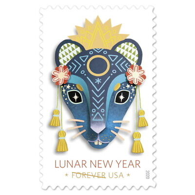 USPS New Lunar New Year - Year of the Rat Pane of 20