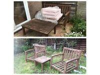 Solid wooden furniture set