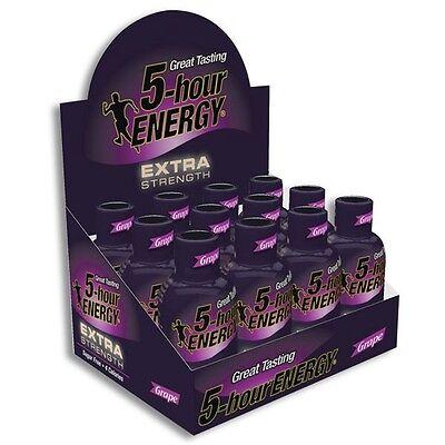 5-Hour Energy Extra Strength Grape Shots 1.93 oz Sugar Free 24ct
