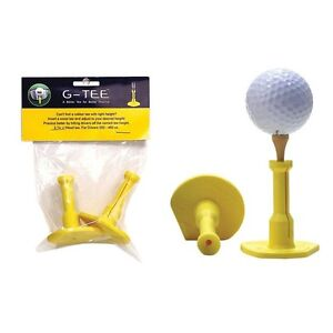 G-Tee-Precision-Height-Rubber-Golf-Tees-2-Pack-Driving-Range-Tees-NEW