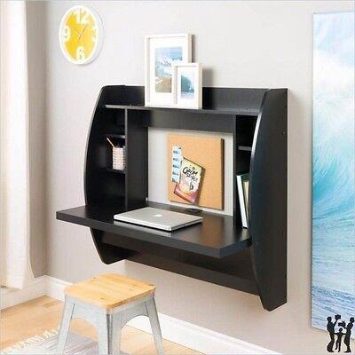 Prepac Floating Wall Black Computer Desk w/ Storage Computer  Contemporary Traditional Desk
