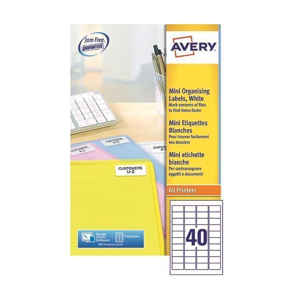 Avery Laser Mini Labels 40x25Sheets White (Pack of 1000) [AV99284]