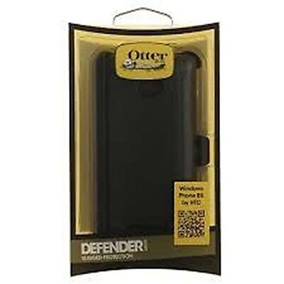 Otterbox  Defender Series Case For Htc Windows Phone 8X Retail Packaging   Black