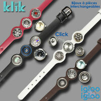klik - Bracelet blanc avec montre et pièces