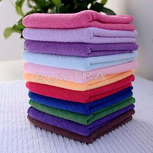 10 pcs Various Color Practical Luxury Soft Fiber Cotton Face/Hand Cloth Towel