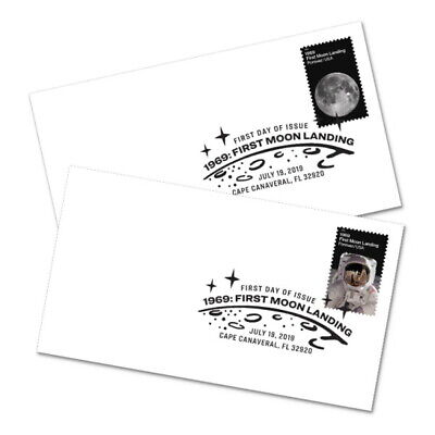 USPS New 1969:  First Moon Landing First Day Cover (Set of 2)
