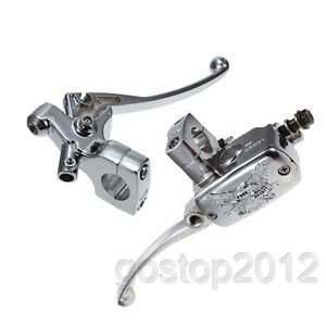 1-Chrome-Brake-Master-Cylinder-Clutch-Lever-For-Harley-Honda-Suzuki-Kawasaki