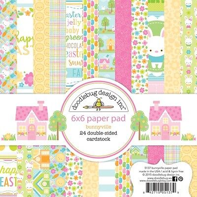 Easter Paper (Scrapbooking Crafts Doodlebug 6X6 Paper Pad Bunnyville Easter JellyBeans)