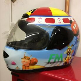 Magic roundabout motor bike helmet size small
