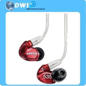 SALE BRAND NEW SHURE SE535 SOUND ISOLATING IN-EAR EARPHONE RED SPECIAL EDITION