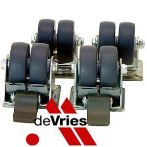 devries 4er set doppellenkrollen f r strandk rbe strandkorb rollen m belf sse ebay. Black Bedroom Furniture Sets. Home Design Ideas