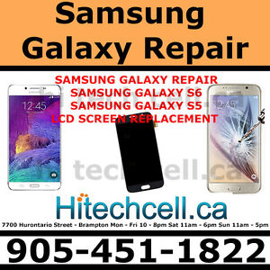 samsung galaxy S6,S5, S4,  Note 4, Note 4 repair done while wait