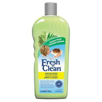 Fresh 'n Clean Medi Cleen Medicated Dog Shampoo Helps Dandruff Dermatitis 18 oz