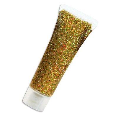 Goldenes Glitzergel, Glitzer Make-up zum Schminken auf Mädchenparty