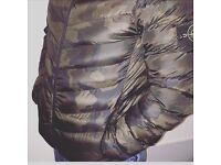 Stone island puffer hooded jacket