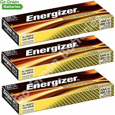 30 x Energizer AAA Industrial Alkaline Batteries 1.5V LR03, MN2400, MICRO MINI for sale  Shipping to Ireland