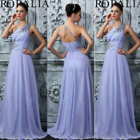 Stunning Ladies One-shoulder Evening Gown Maxi Dress Sz 10 - New