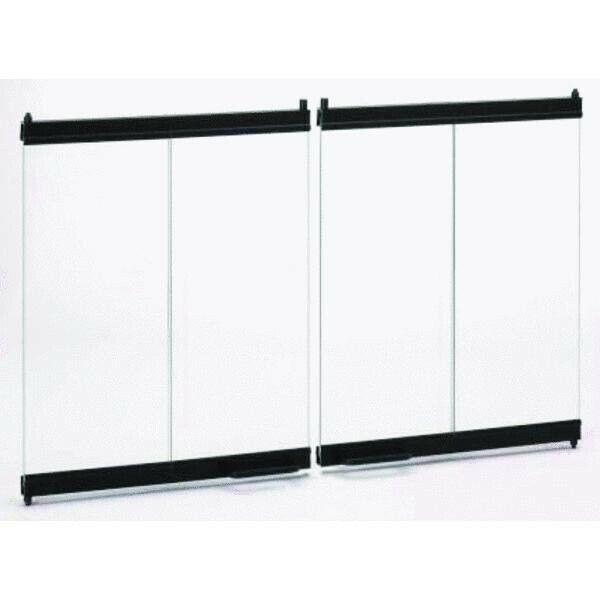 IHP/Superior 36 Inch Extruded Aluminum Bi-Fold Glass Doors-Black
