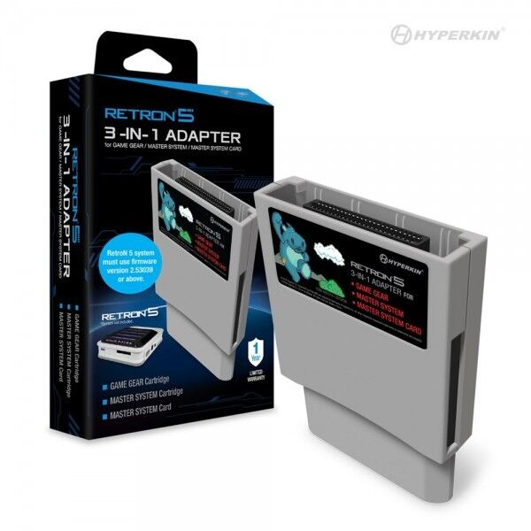 Hyperkin Retron5 3 In 1 Adapter For Game Gear, Master Sys...