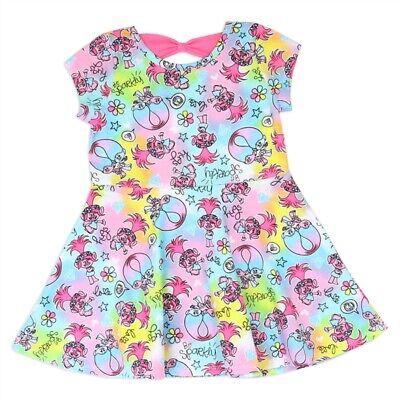 Dreamworks Trolls Poppy One-piece Dress Party Birthday Cute Toddler Little Girls