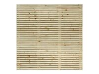 Contemporary Grange slatted fence panel 6ft x 6ft, £100 NEW