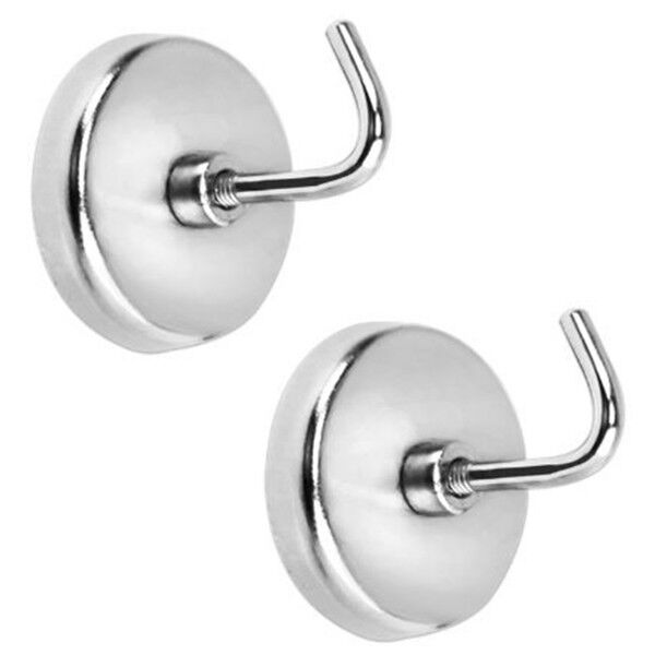 "NEW IIT 2 PIECE HEAVY DUTY 1/2"" MAGNETIC HOOKS 8lb Capacity"
