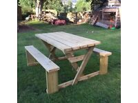Hand made garden bench,
