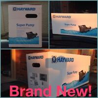 Pool Equipment, *New*, With Install, Hayward Super Pump 1HP