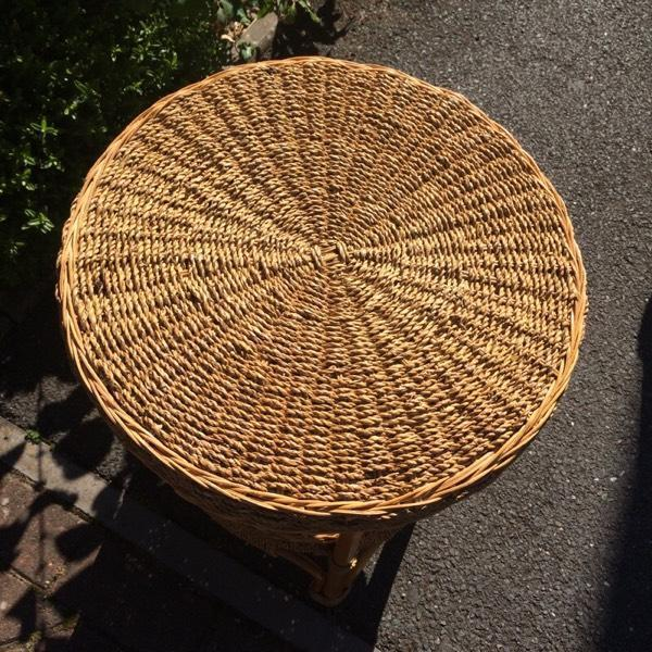 Leather Sofa Repairs In Coventry: Raffia Wicker Garden Or Conservatory Table