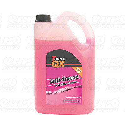 Triple QX 5L Red AntiFreeze Summer Coolant 5 Litre GL12 Ready Mix