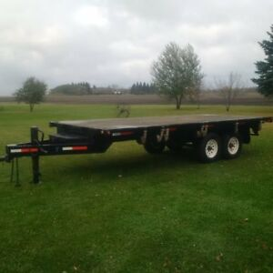 2004 18 Ft Deckover Bumper Hitch Trailer