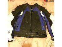 Duchinni two piece motorbike leathers