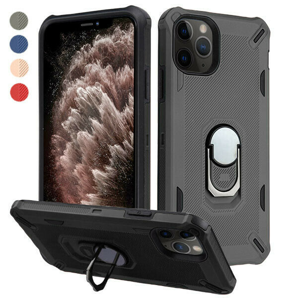 Apple iPhone 11 /Pro Max Case Magnetic Ring Holder Stand Hyb