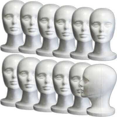 Less Than Perfect Mn-408-ltp 12 Pcs Female Styrofoam Mannequin Head