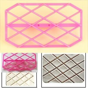 Diamond Quilting Embosser Cutter Icing Fondant Cake Decorating Sugarcraft Mold