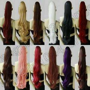 15-Color-Hair-Wavy-Ponytail-28-in-Long-70cm-cosplay-wig-Free-Shipping-08