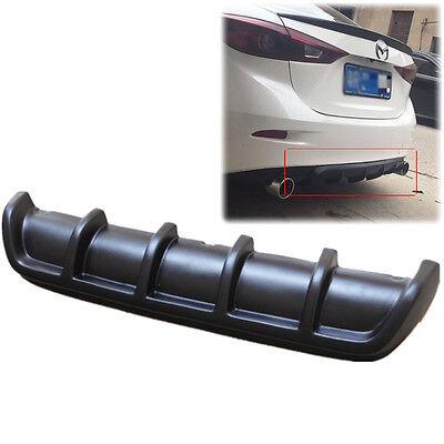 "25""x5"" Euro Car Auto Matte Black Rear Shark Fin Curved  Bumper Lip Diffuser Kit"